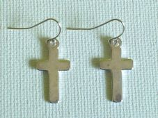 Tibetan cross earrings
